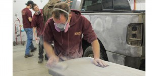 "Sanding blocks provide the technician or painter the ability to ""feel"" the surface as they're cutting the layers down."