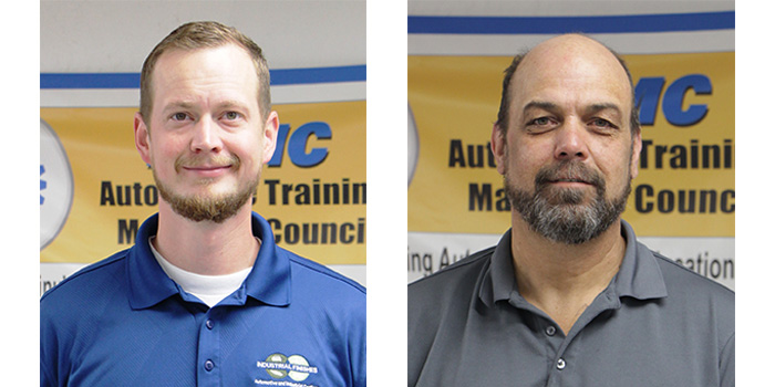 From left, new I-CAR Training Alliance instructor in Oregon, Ben Else, and new I-CAR Training Alliance instructor in Salt Lake City, Darrin Mitchell.