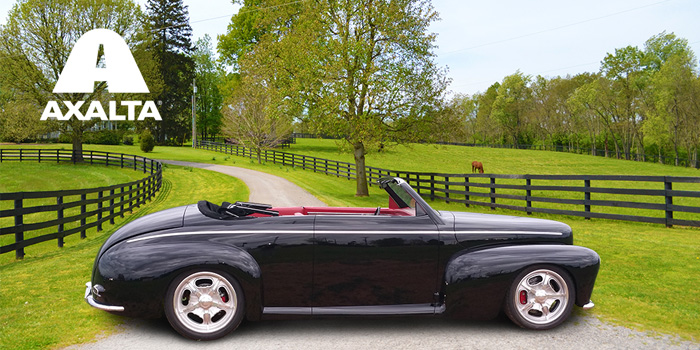 Axalta will feature rare 1942 Ford Super Deluxe Convertible painted by Jeff Kinsey with Axalta's ChromaPreimer Pro refinish system.