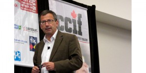 Keynote speaker David Lingham, director of Orbis Business Impact, discusses global trends at the CCIF Special Event on Global Trends: Changing the Course of the Collision Repair Business in Canada.