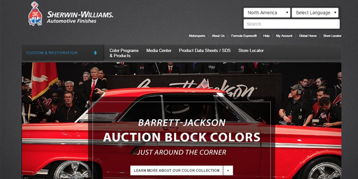 Sherwin williams automotive finishes launches new websites