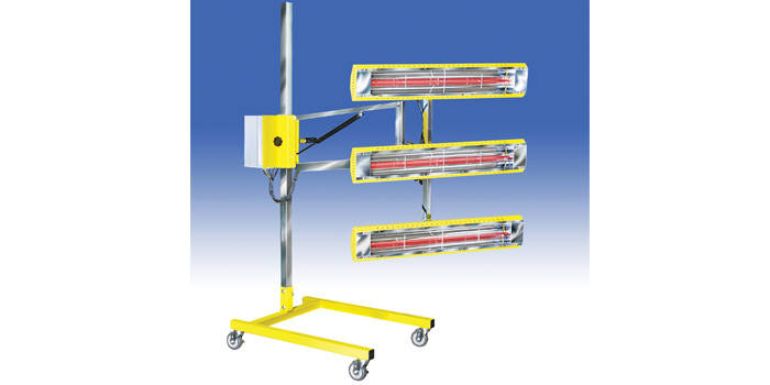 Portable stands can be used in prep areas to accelerate production.