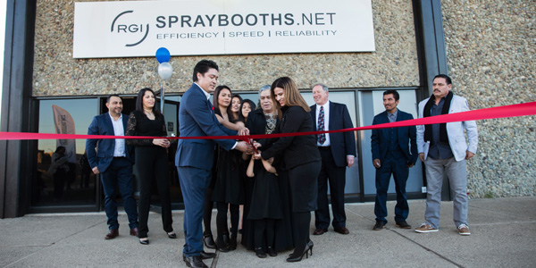 RGI Spray Booth ribbon cutting