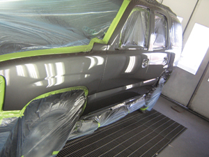 After a couple coats of clear, this Tahoe's ready to roll.