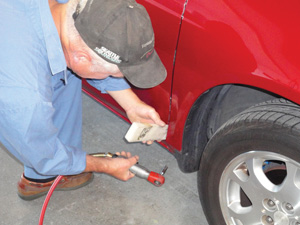 (above) 6 adjusting the vertical fender-to-door gap with a plastic wedge. & Aligning Panels: Closing the Gap - Body Shop Business