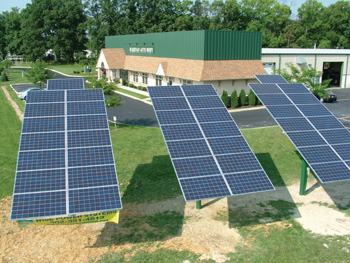 the solar panels at keenan auto body's delaware county shop provide 65 percent of the shop's energy.
