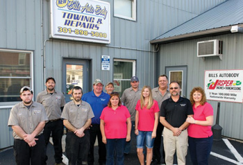 "bill's auto body in thurmont, md., is one shop that can tout the ""green garage challenge"" designation."