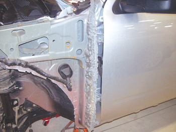 here the automaker filled the area where the fender meets the door to seal out & Auto Foam: Overlooked and Misunderstood - Body Shop Business
