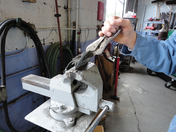 Moving a piece of the test weld back and forth using a duck bill vise grip until it breaks can show you if your weld is sound.