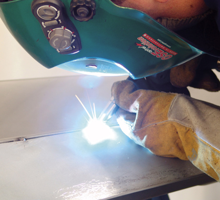 MIG brazing can be used on some door panel repair procedures.