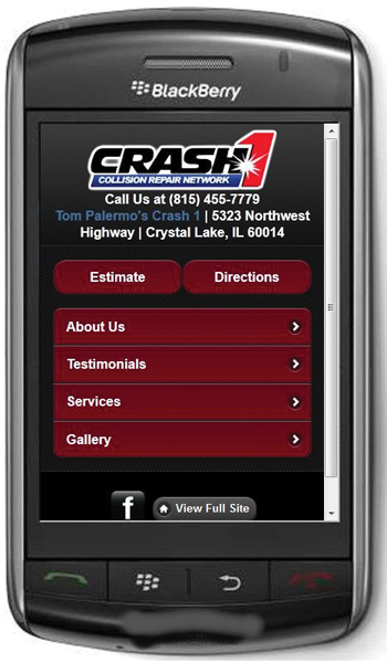 all the important things a consumer needs to know are just a tap away on the mobile version of tom palermo's crash1 website.