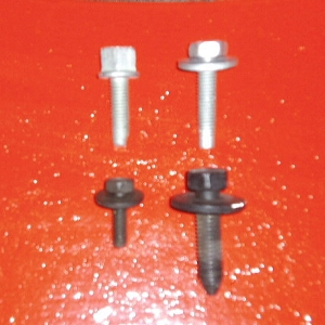 figure 3. dacromet bolts (upper) and standard black oxide (lower). dacromet bolts should be used when bolting dissimilar metals together.