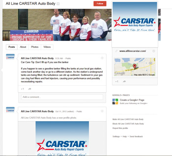 All Line CARSTAR's Google+ page.