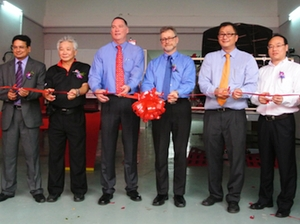 The Chief Automotive Technologies team of (from left to right) Surya Prakash, Stephen Wong, Steve Slaughter, Lee Daugherty, Jason Hans and Li Xun recently helped the company open a new training and specification center in Kuala Lumpur, Malaysia. The facility will give Chief greater access to vehicles built in the Asia-Pacific region for measuring, providing customers with better collision repair specs.
