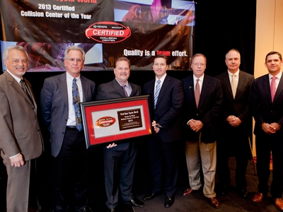 For The Third Year In A Row, Fred Haas Toyota World In Spring, Texas, Was  Named The 2013 Toyota Certified Collision Center Triple Crown Winner In The  Large ...
